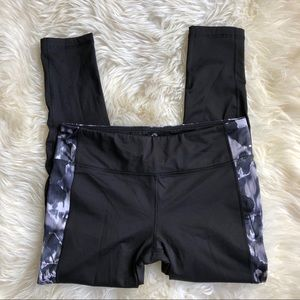 90 Degree Black Athletic Yoga Watercolor Pants XL